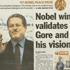 Al Gore wins Nobel